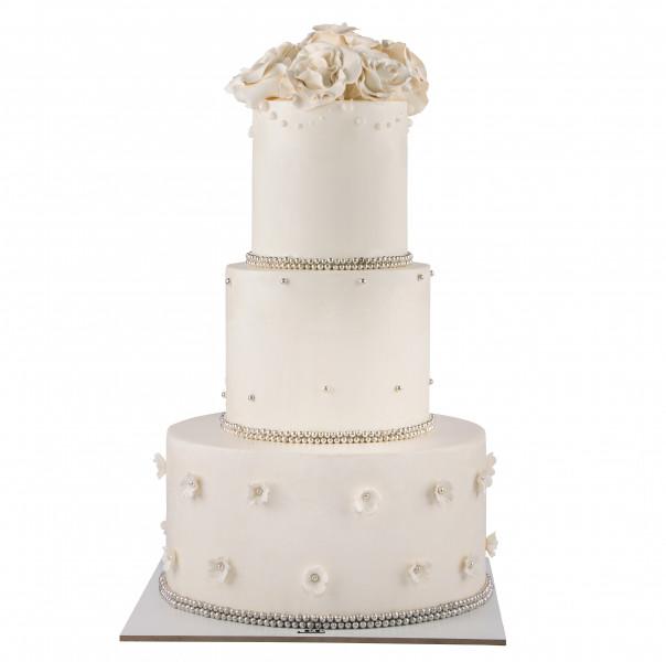 کیک عروسی رز گل 3