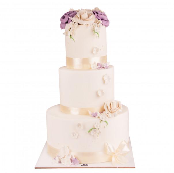 کیک عروسی رز گل 4