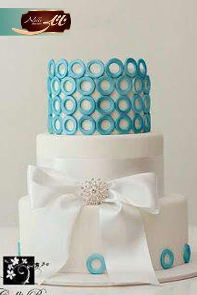 کیک عروسی پاپیون سفید 2