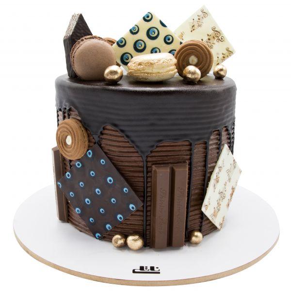 کیک خامه ای ماکارون بیسکویت