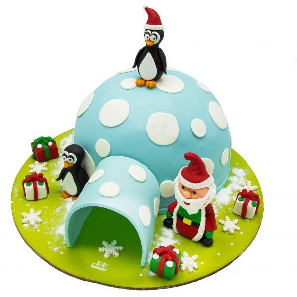 کیک خانه قطبی فوندانت