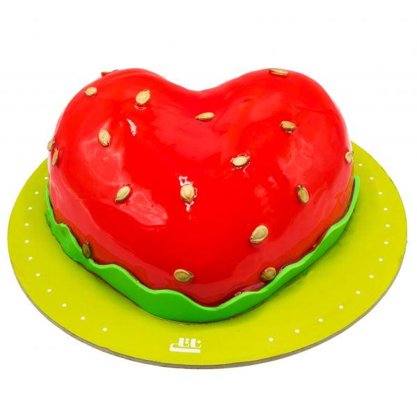 کیک قلب هندوانه ای