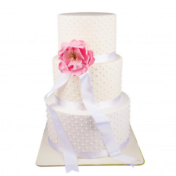 کیک عروسی مروارید سپید