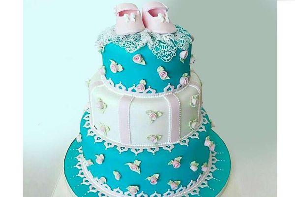 کیک تولد دخترانه نوزاد 9
