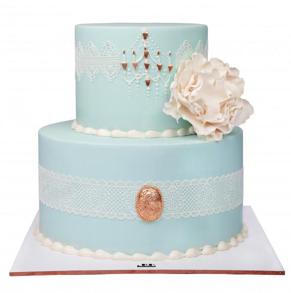 کیک عروسی نگین سپید