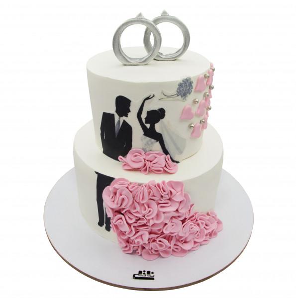 کیک عروسی عروس و داماد