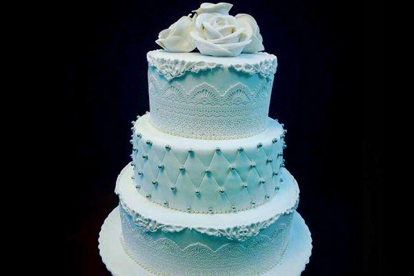 کیک عروسی دریا رز