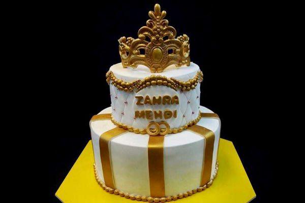 کیک عروسی تاج عروسی
