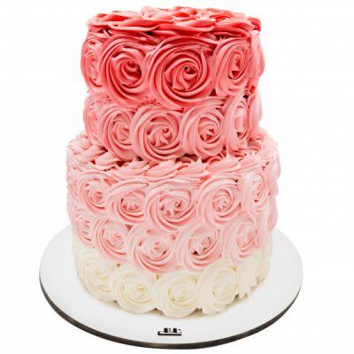 کیک عروسی رز لاو
