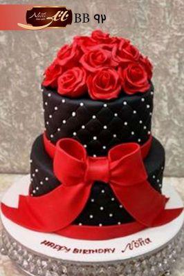 کیک نامزدی گل رز