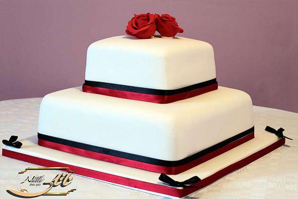 کیک عروسی ناز رز