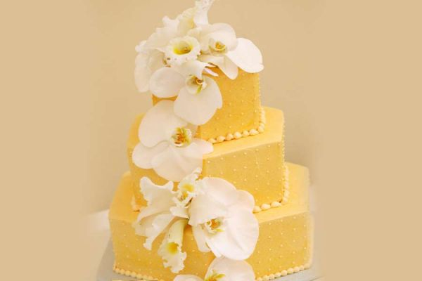 کیک عروسی ارکیده