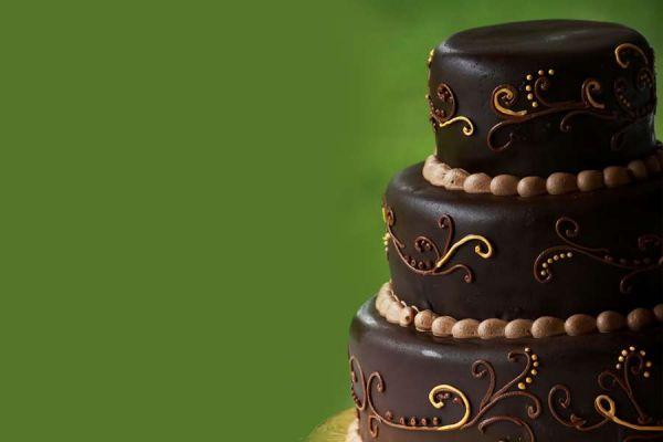کیک عروسی شکلاتی نگار