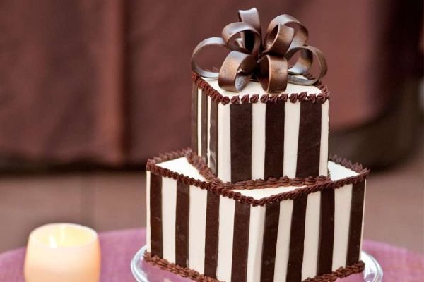 کیک عروسی شکلات
