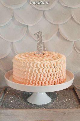 کیک تولد خامه ای درسا