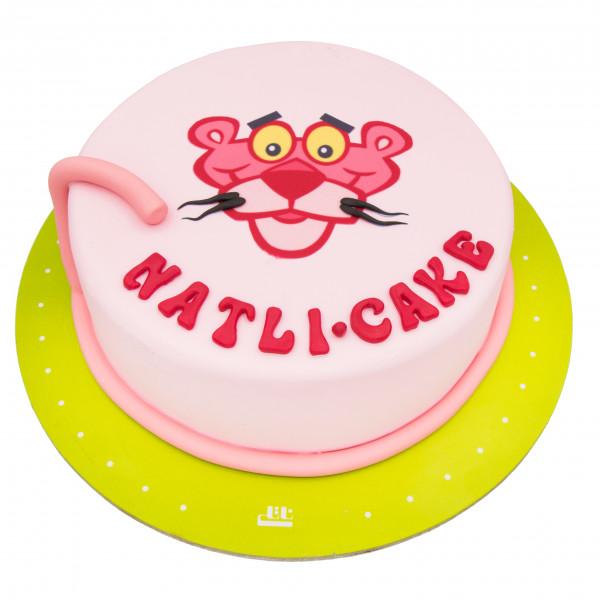 کیک پلنگ صورتی خندان