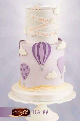 کیک تولد دخترانه بالن