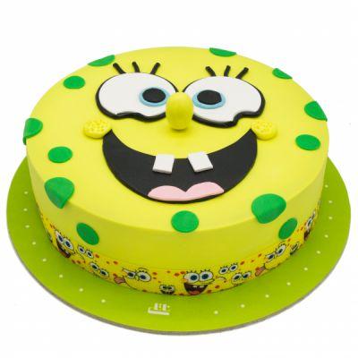 کیک تولد باب اسفنجی گرد