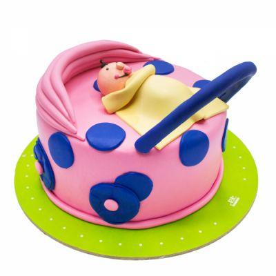 کیک تولد کالسکه بچه