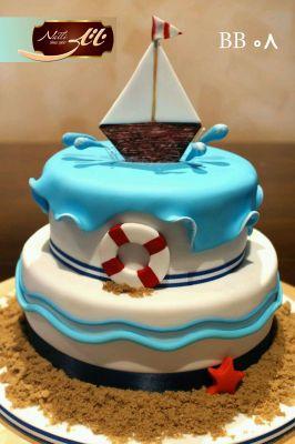 کیک تولد پسرانه قایق 1