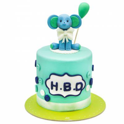کیک تولد فیل نشسته