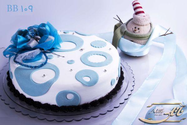 کیک تولد پسرانه آبی