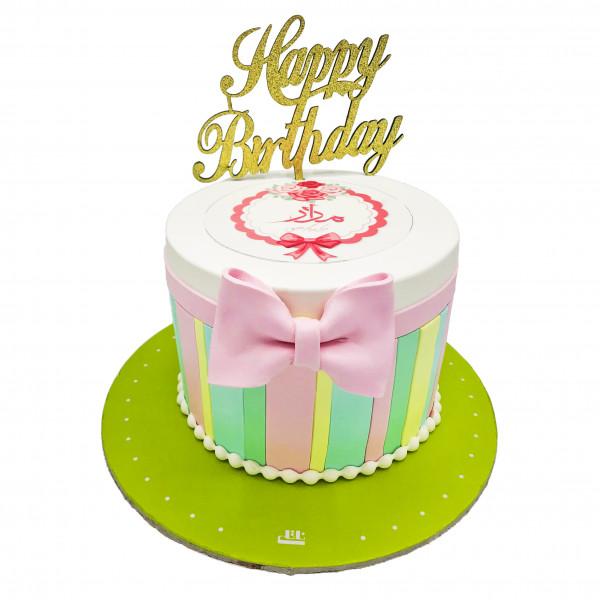 کیک تولد دخترانه پاپیون 1