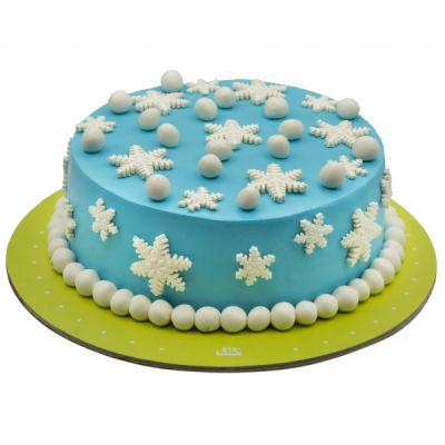 کیک تولد دخترانه برفی