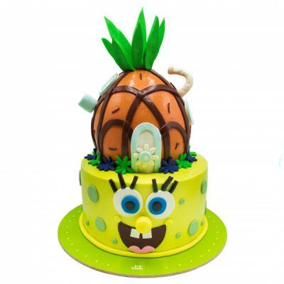 کیک تولد باب اسفنجی خوشحال