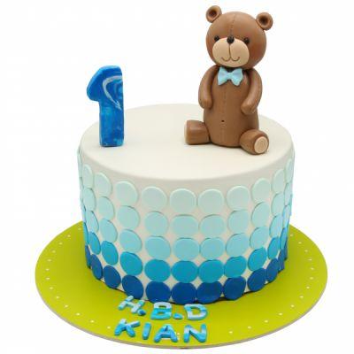 کیک خرس مهربون