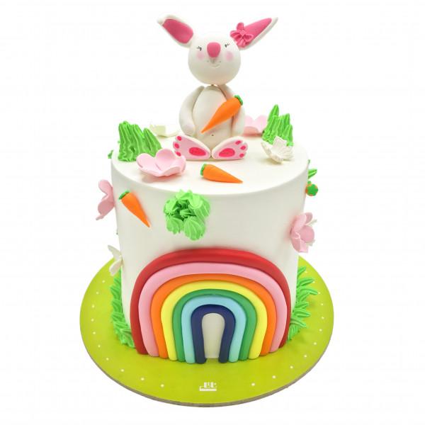 کیک تولد دخترانه رنگین کمان 5