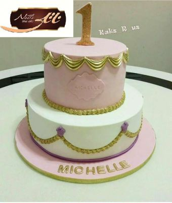 کیک تولد دخترانه کلاسیک 4