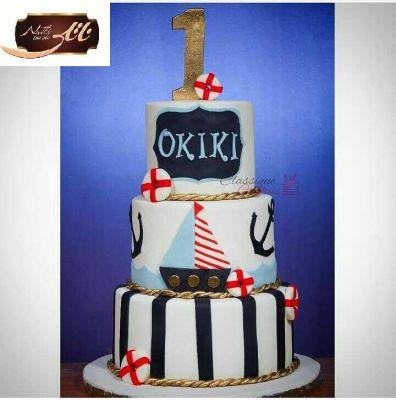 کیک تولد پسرانه قایق 2