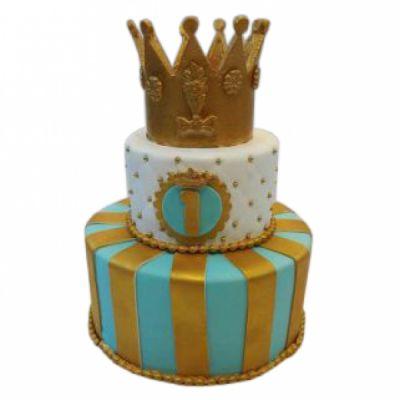 کیک تولد تاج طلایی 5