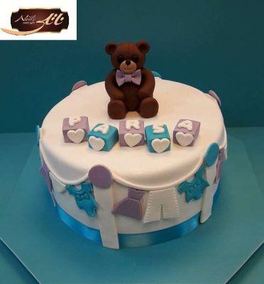 کیک تولد خرس تنبل