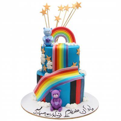 کیک خرس ها در رنگین کمان
