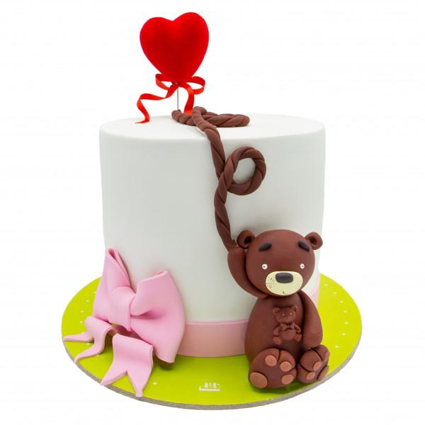 کیک تولد خرس سفید