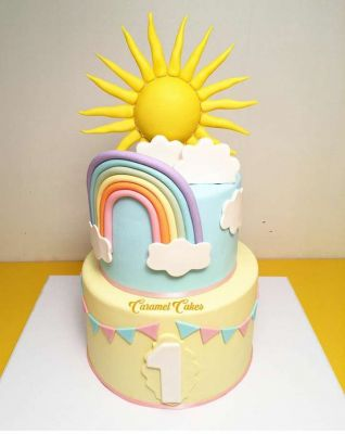 کیک تولد دخترانه خورشید خانم 3