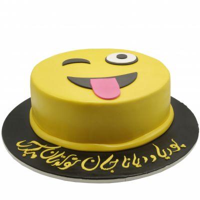 کیک تولد ایموجی خندان