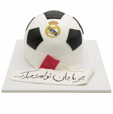 کیک تولد پسرانه توپ فوتبالی