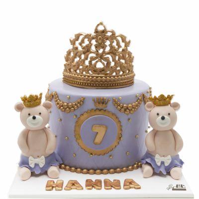 کیک تولد خرس های تاجدار