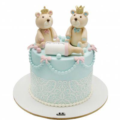 کیک تولد خرس های دوقلو