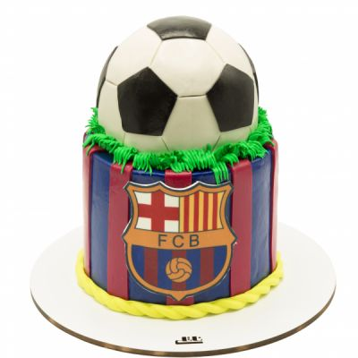 کیک تولد توپ بارسلونا