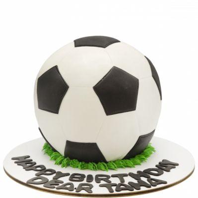 کیک تولد پسرانه توپ فوتبال چهل تیکه
