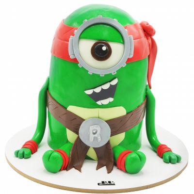 کیک تولد مینیون سبز