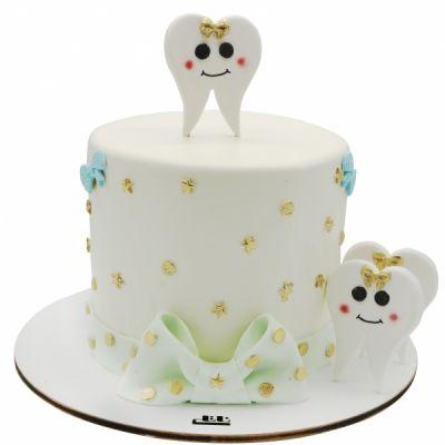 کیک دندونی دندان های زیبا
