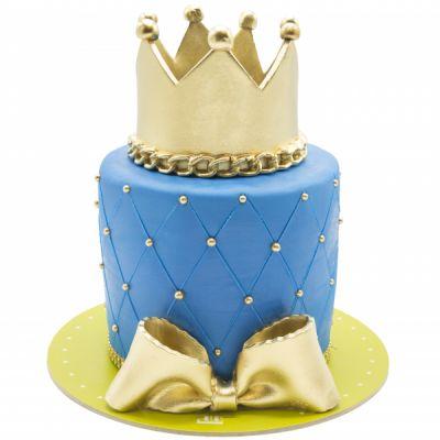 کیک تولد دخترانه تاج پرنس هری