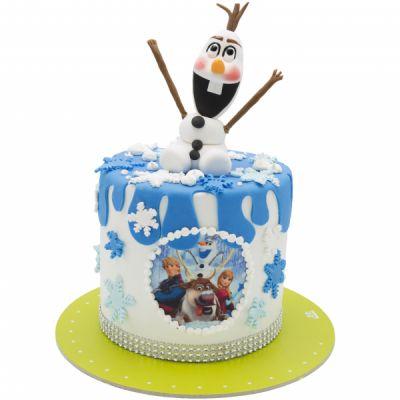 کیک تولد آدم برفی 7