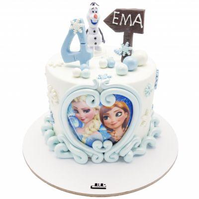 کیک تولد دخترانه السا و آنا