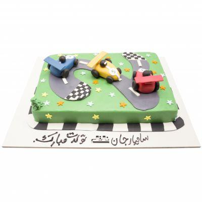 کیک تولد پسرانه ماشین 4